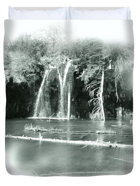 Hanging Lake Duvet Cover