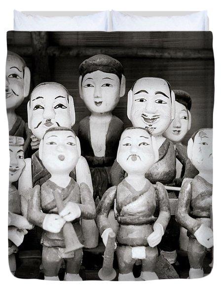 Hanoi Water Puppets Duvet Cover