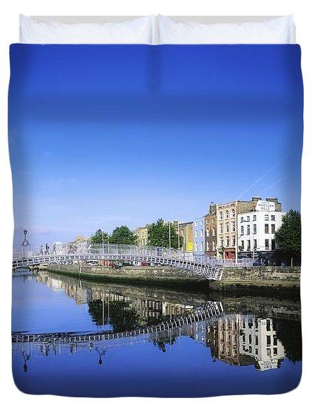 Hapenny Bridge, River Liffey, Dublin Duvet Cover by The Irish Image Collection