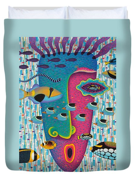 Happiness 3 Duvet Cover by Opas Chotiphantawanon
