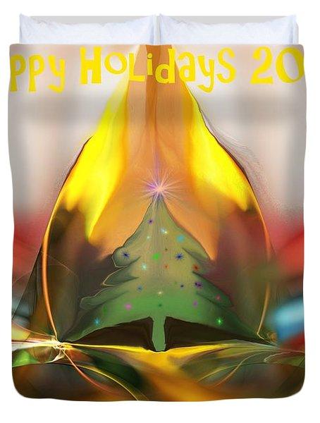 Happy Holidays 2012 Duvet Cover by David Lane
