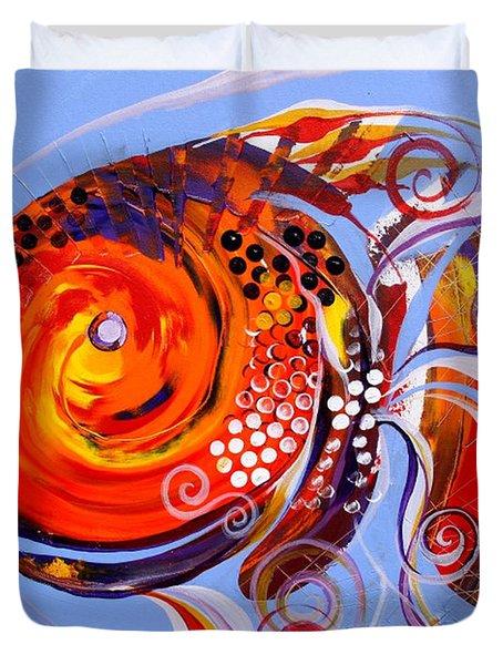 Happy Rainbow Fish Duvet Cover
