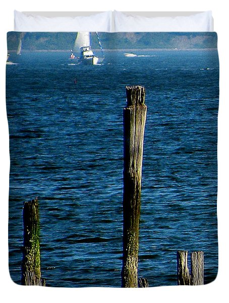 Harbor Islands  Duvet Cover by Jeff Heimlich