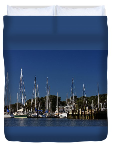 Harbor View Duvet Cover by Karol Livote