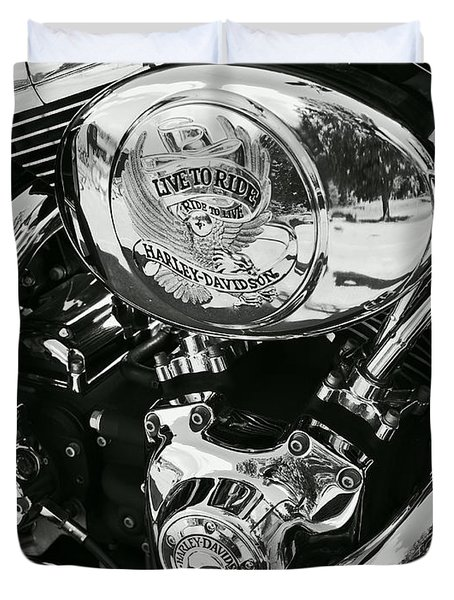 Harley Davidson Bike - Chrome Parts 02 Duvet Cover
