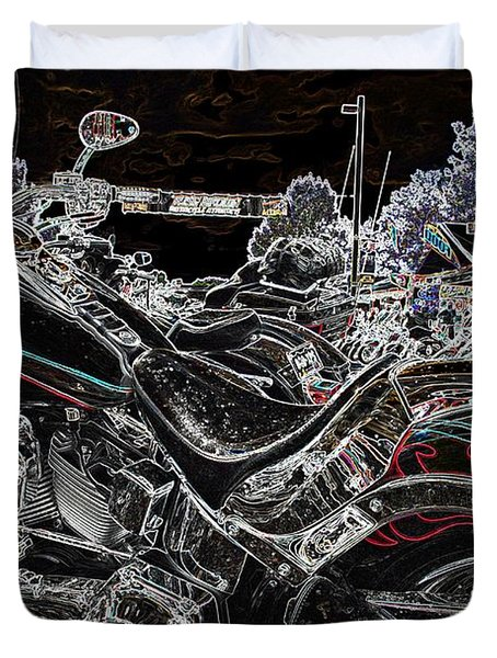 Duvet Cover featuring the photograph Harley Davidson Style 3 by Anthony Wilkening