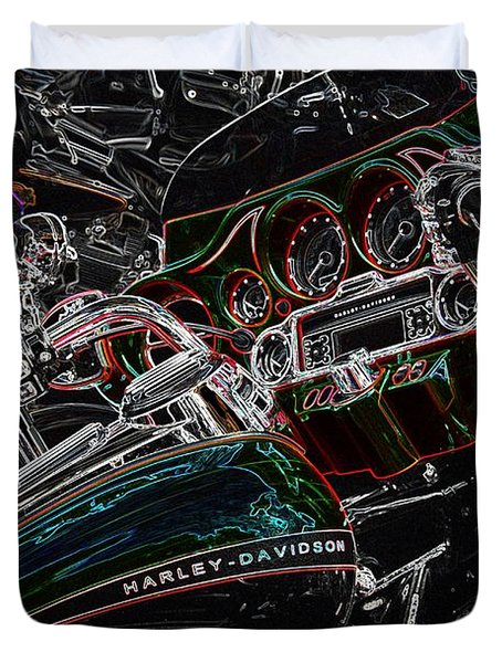 Duvet Cover featuring the photograph Harley Davidson Style 4 by Anthony Wilkening