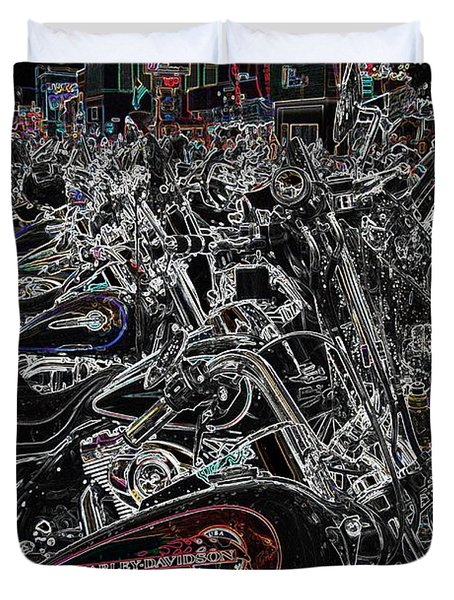 Duvet Cover featuring the photograph Harley Davidson Style by Anthony Wilkening