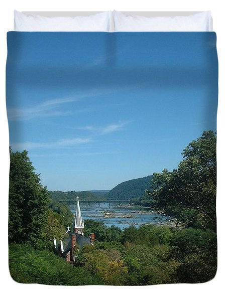 Harper's Ferry Long View Duvet Cover by Mark Robbins