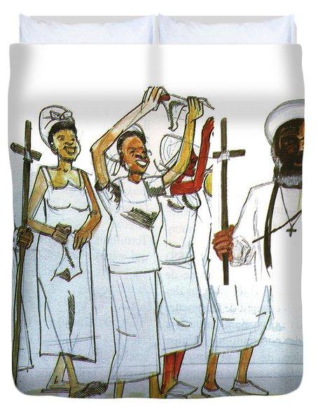 Harris And His Followers Duvet Cover by Emmanuel Baliyanga