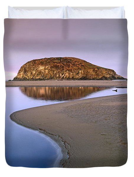 Harris Beach State Park Oregon Duvet Cover by Tim Fitzharris