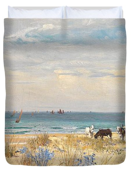 Harvesting The Land And The Sea Duvet Cover