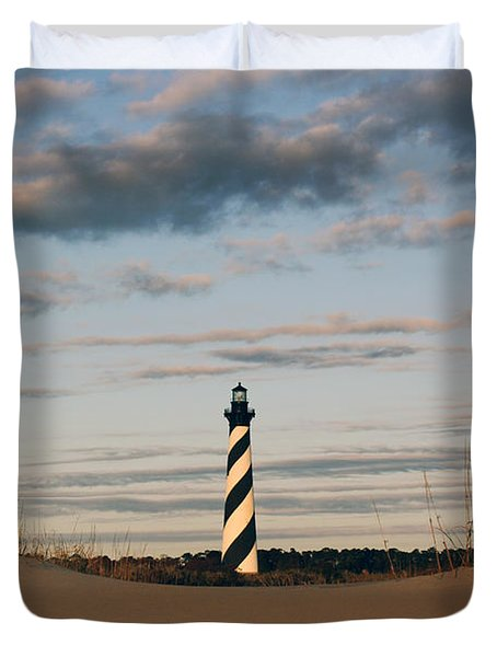 Hatteras Lighthouse And The Smiling Dune Duvet Cover