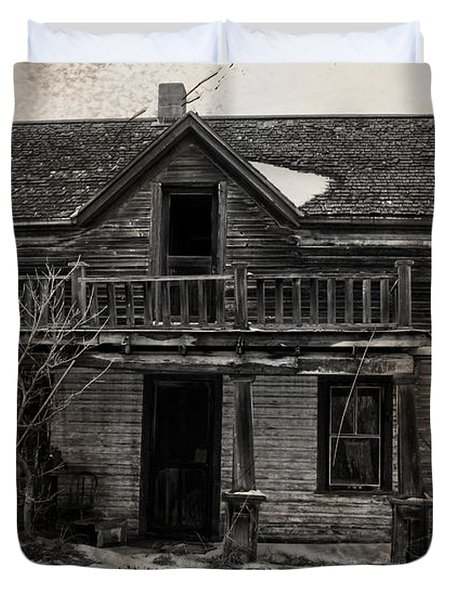 Haunting East Duvet Cover by Jerry Cordeiro