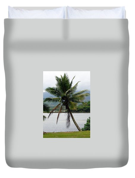 Hawaiian Palm Duvet Cover by Athena Mckinzie