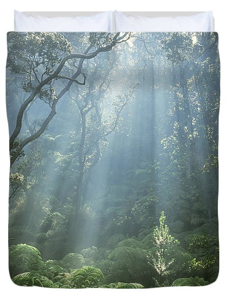 Hawaiian Rainforest Duvet Cover by Gregory Dimijian MD