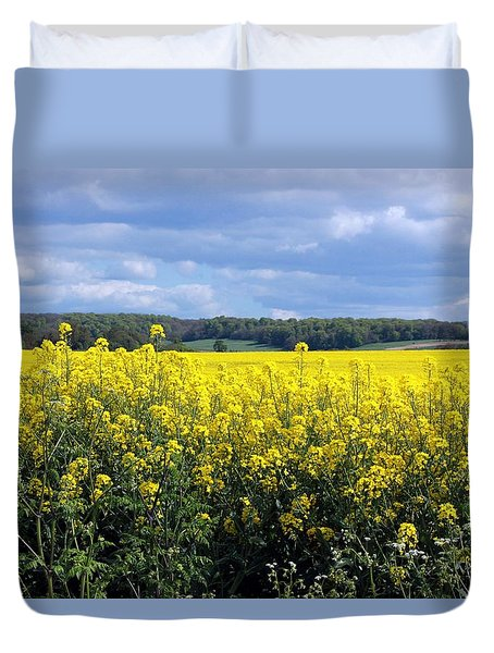 Duvet Cover featuring the photograph Hay Fever by Rdr Creative