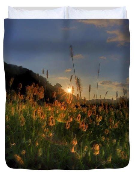 Hay Field Duvet Cover by Dan Friend