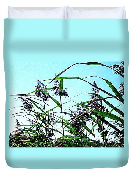 Hay In The Summer Duvet Cover by Pauli Hyvonen