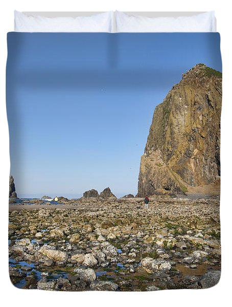 Haystack Rock 2 Duvet Cover by Mauro Celotti