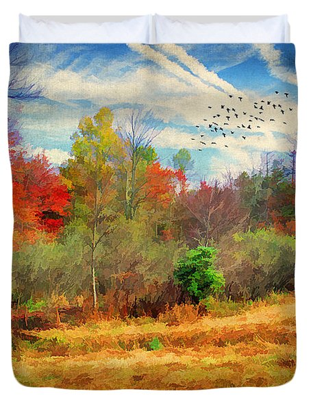 Heading South Duvet Cover by Darren Fisher