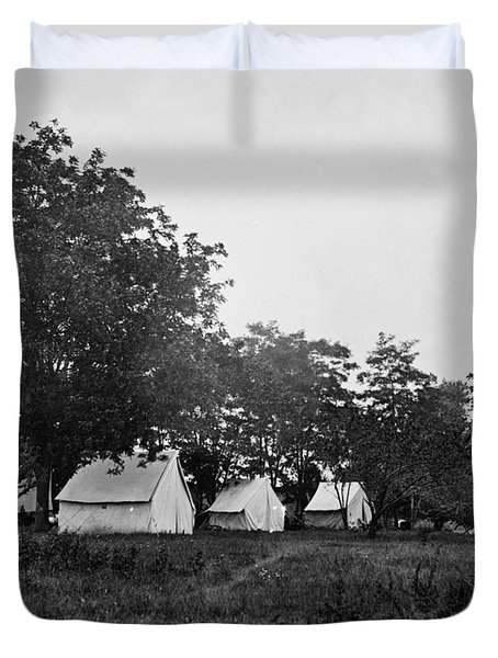 Headquarters - Army Of The Potomac - Fairfax Courthouse Virginia 1863 Duvet Cover by International  Images