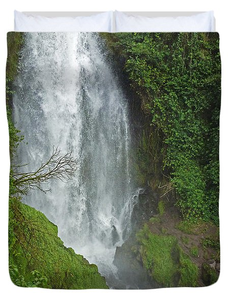 Headwaters Peguche Falls Ecuador Duvet Cover