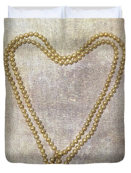 Heart Of Pearls Duvet Cover by Joana Kruse