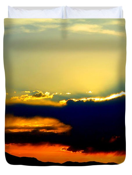 Duvet Cover featuring the photograph Heaven Is Watching by Jeanette C Landstrom