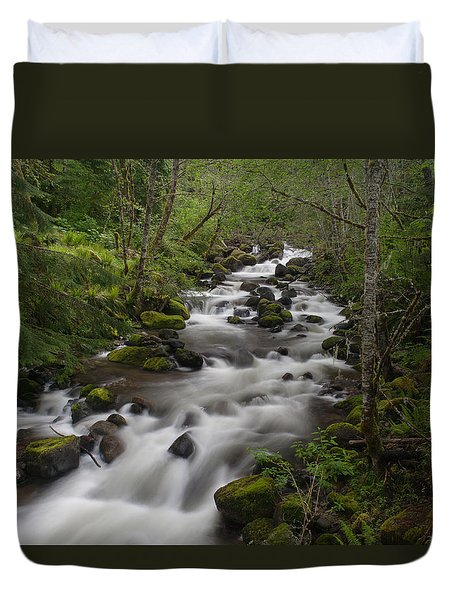Heavenly Flow Duvet Cover by Mike Reid