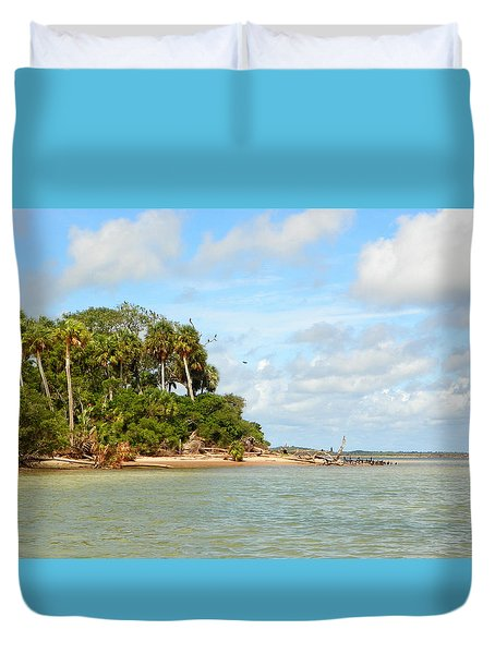 Heavenly Island View  Duvet Cover