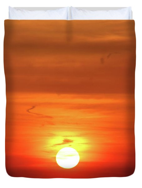 Heavenly Sunset Duvet Cover by Mariola Bitner