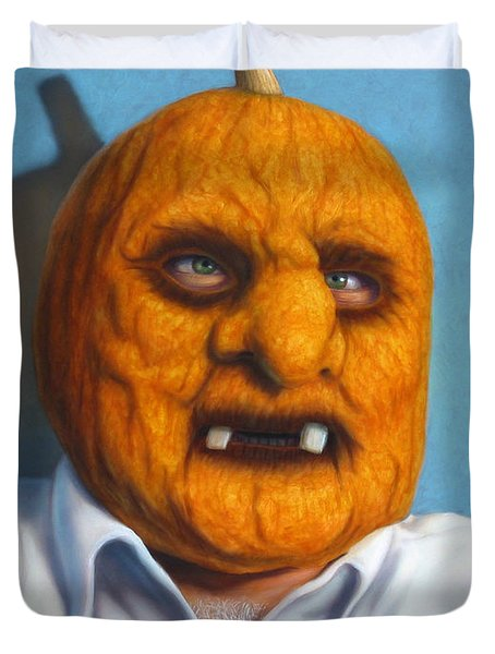Heavy Vegetable-head Duvet Cover by James W Johnson