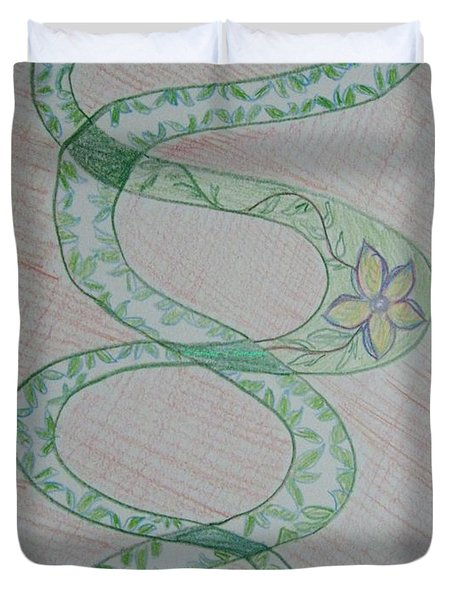 Duvet Cover featuring the painting Helix  by Sonali Gangane