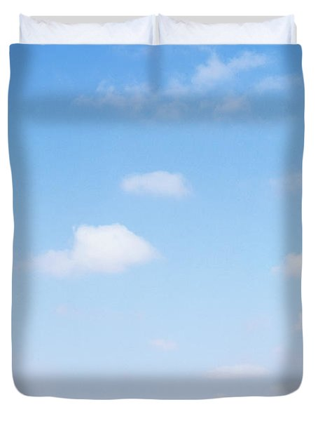 Herd Of Zebras In Dusty Scrubland Duvet Cover by Axiom Photographic