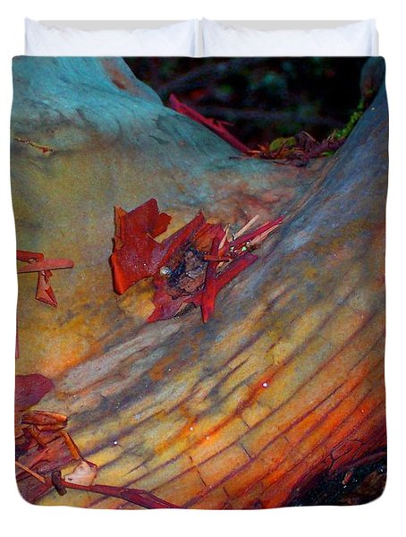 Duvet Cover featuring the digital art Here And Now by Richard Laeton