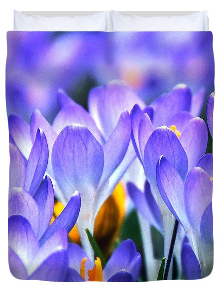 Here Come The Croci Duvet Cover by Byron Varvarigos
