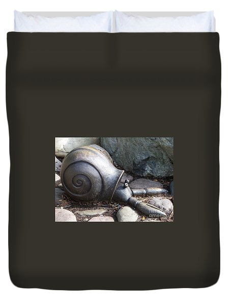 Duvet Cover featuring the photograph Hermit Crab by Chalet Roome-Rigdon