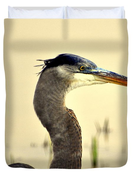 Heron One Duvet Cover by Marty Koch
