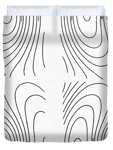 Hertzs Flux Lines Duvet Cover by Science Source