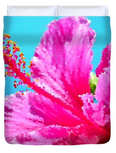 Hibiscus Crystal Luster Duvet Cover