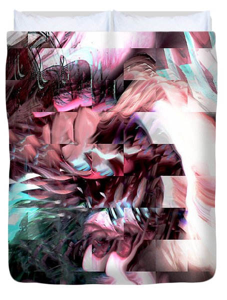 Hidden Dimensions Duvet Cover by Linda Sannuti