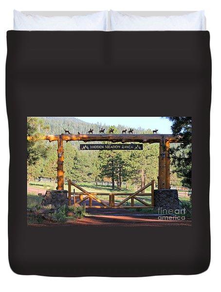 Hidden Meadow Ranch Duvet Cover