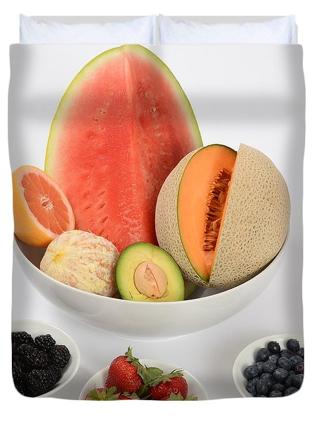 High Carbohydrate Fruit Duvet Cover by Photo Researchers, Inc.
