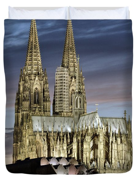 High Cathedral Of Sts. Peter And Mary In Cologne Duvet Cover by Heiko Koehrer-Wagner