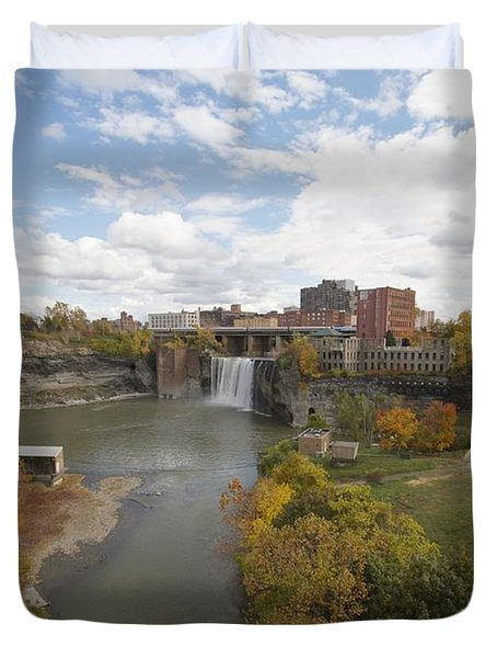 Duvet Cover featuring the photograph High Falls by William Norton