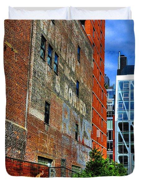 High Line Park Scene Duvet Cover by Randy Aveille