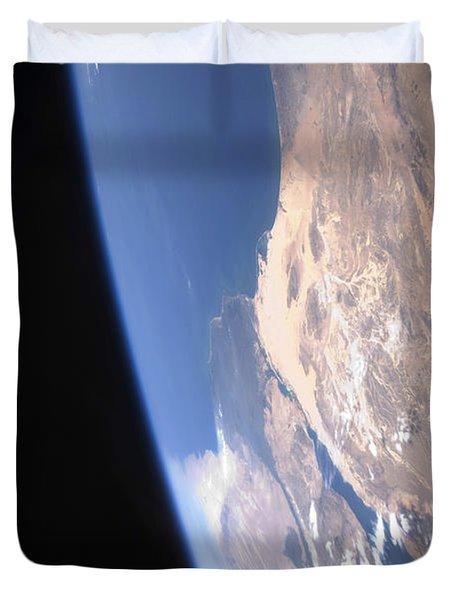 High Oblique Scene Looking Duvet Cover by Stocktrek Images