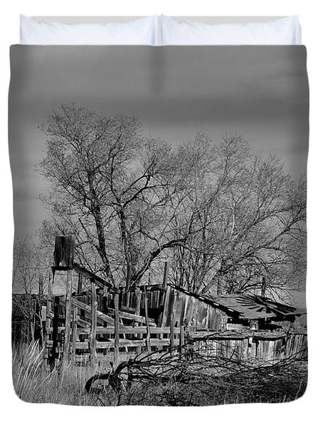 Duvet Cover featuring the photograph High Plains Wind by Ron Cline