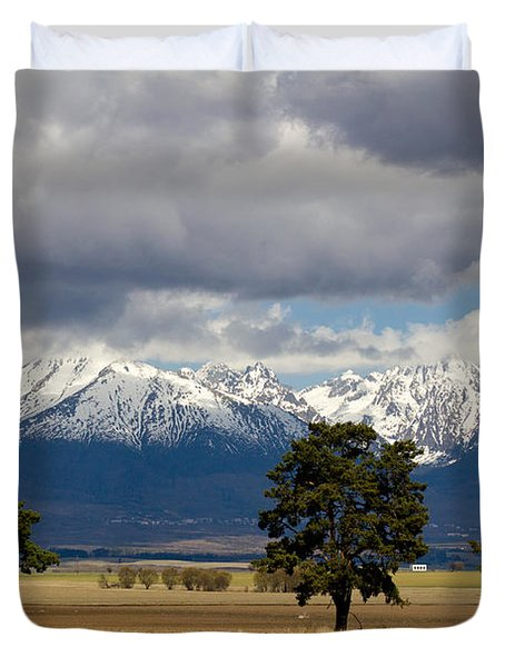 Duvet Cover featuring the photograph High Tatras - Vysoke Tatry by Les Palenik